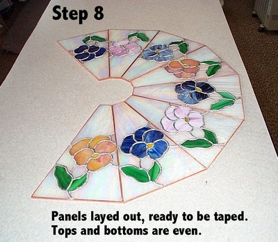 Stained glass lampshade tutorial layed out correctly aloadofball Images